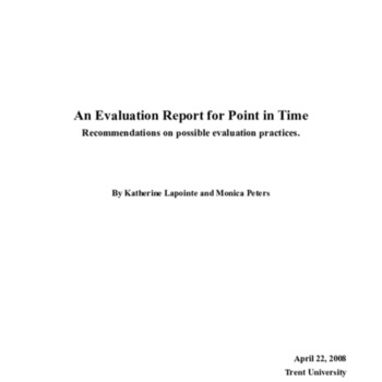 An Evaluation Report for Point in Time