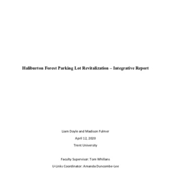 Haliburton Forest Parking Lot Revitalization - Integrative Report A.pdf