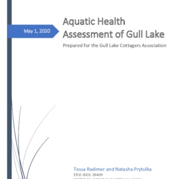 Aquatic Health Assessment of Gull Lake - Brendan Final Edits.pdf