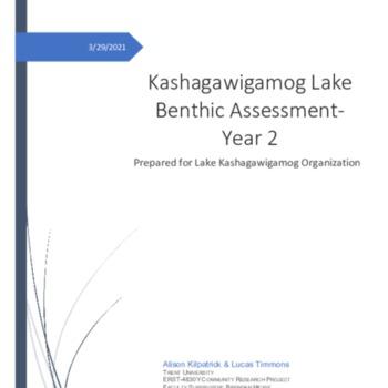 Kashagawigamog Lake Benthic Report Year 2.pdf