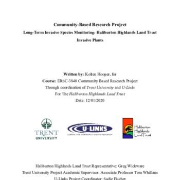 Long-Term Invasive Species Monitoring - Haliburton Highlands Land Trust - Invasive Plants - Final Report (1).pdf
