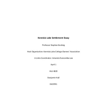 Kennisis Lake Settlement Essay Final 04APR2021.pdf