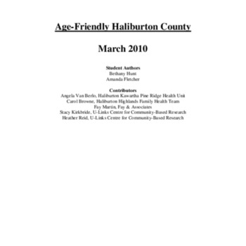 Age-Friendly in Haliburton County